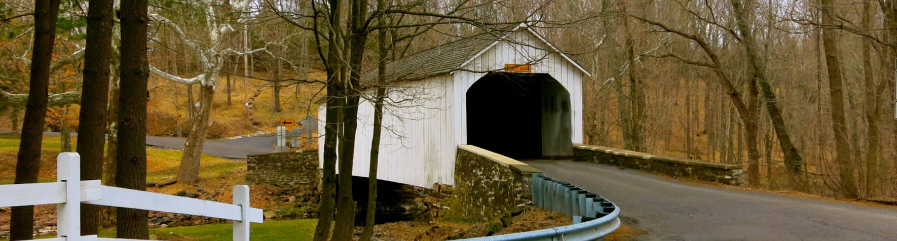 Picture of covered bridge in Bucks County